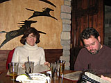 Kathy & Connor enjoy USS at Sonterra Grill